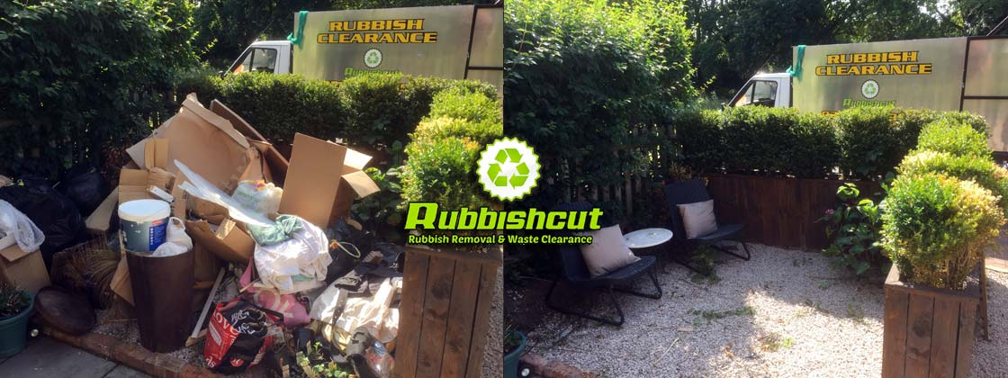 before after garden clearance service london rubbishcut