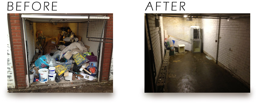 before and after waste removal by rubbishcut