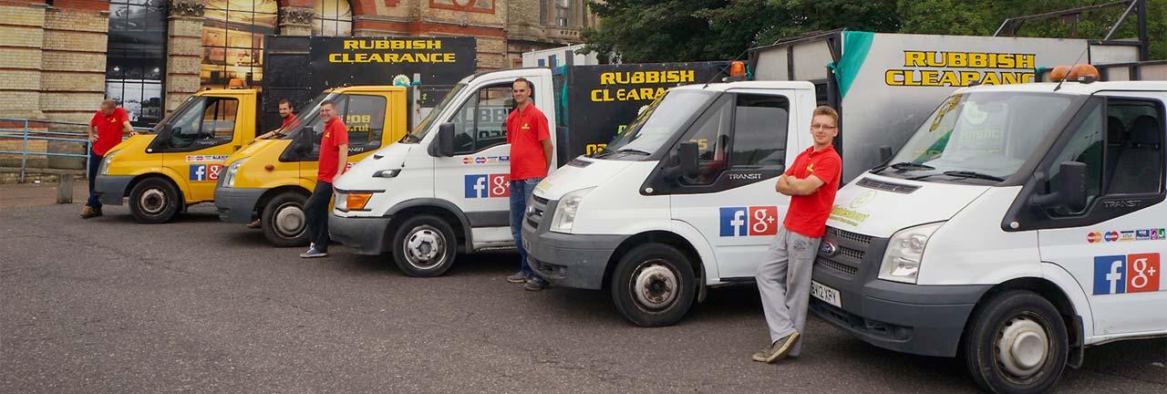 rubbish removal team vans in london uk