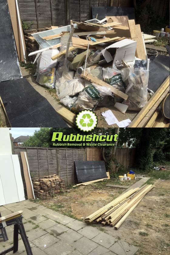 before after builders rubbish removal london rubbishcut