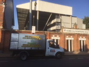 construction site waste removal van lonon wait and load